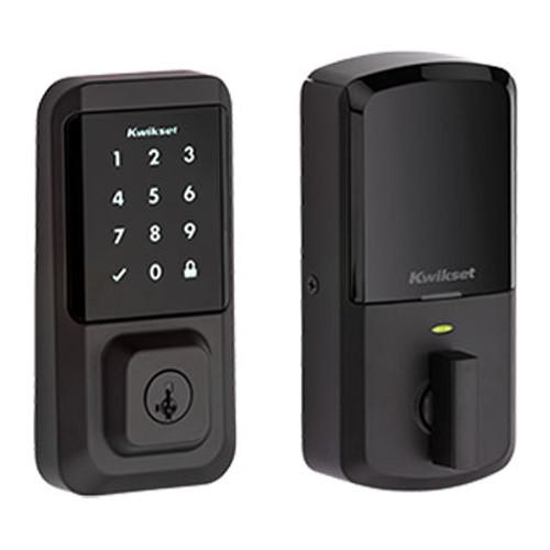Kwikset / 939 Halo Touchscreen WiFi Deadbolt / Iron Black / 939 WiFi TSCR 514 SMT
