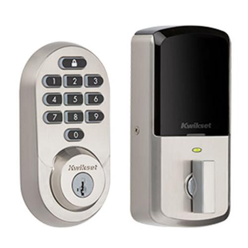 Kwikset / 938 Halo Keypad WiFi Deadbolt / Satin Nickel / 938 WiFi KYPD 15 SMT