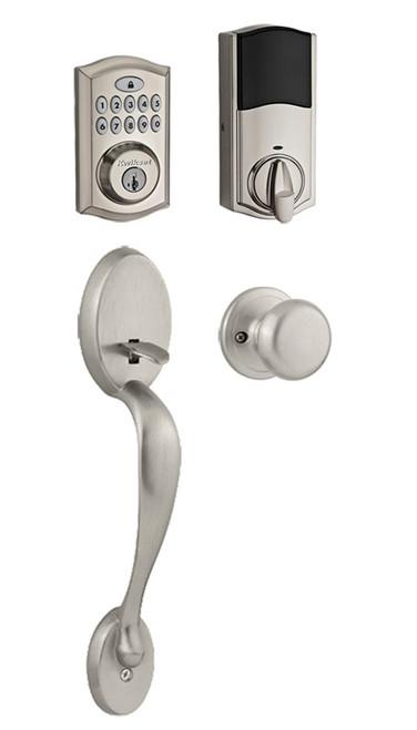 Kwikset / Chelsea 913 TRL Handleset / Single Cylinder - SmartKey / Satin Nickel / 913TRL 815CE 15 SMT