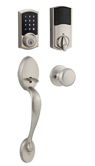 Kwikset / Chelsea 916 TRL Handleset / Single Cylinder - SmartKey / Satin Nickel / 916TRL 815CE 15 SMT
