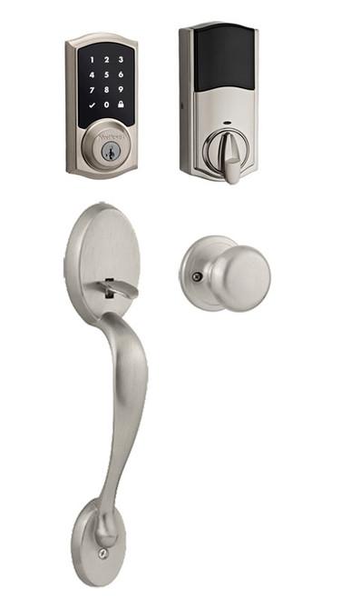 Kwikset / Chelsea 915 TRL Handleset / Single Cylinder - SmartKey / Satin Nickel / 915TRL 815CE 15 SMT