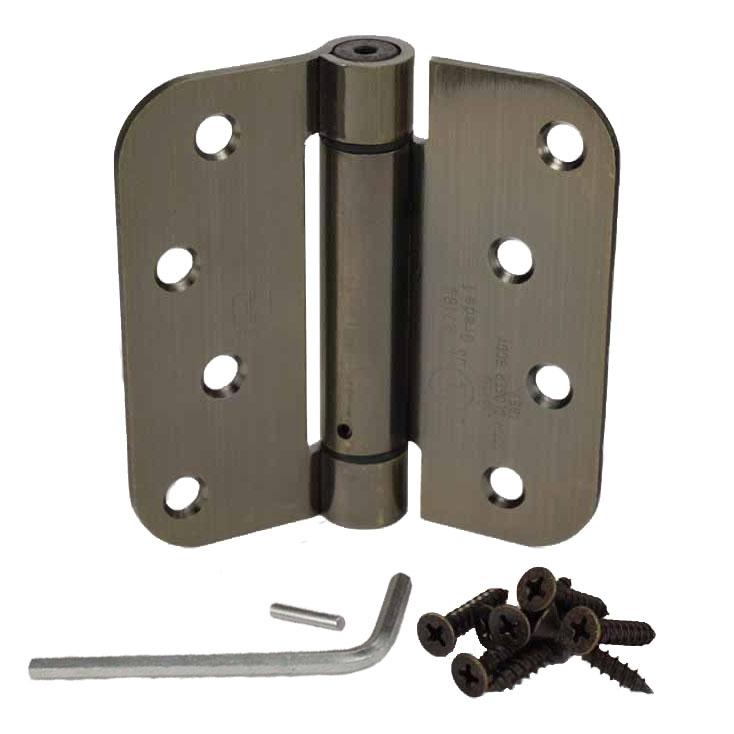 Hager RC1842-4 4 x 4 Full Mortise Steel Residential Duty 5//8 Radius Round Corner Plain Bearing Hinges