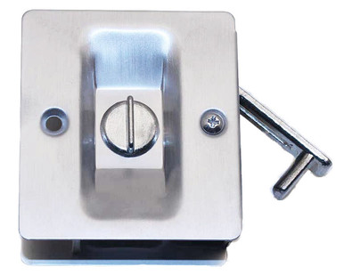 Hager Square Pocket Door Lock Privacy Satin Chrome 330l 26d
