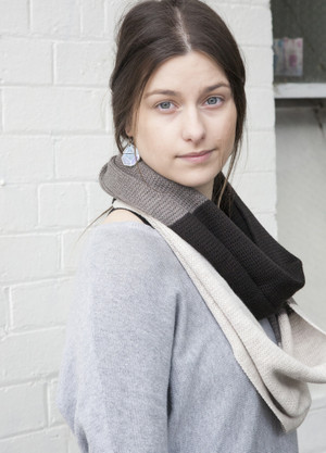 Infinity Loop Scarf - Merino Wool - Chocolate