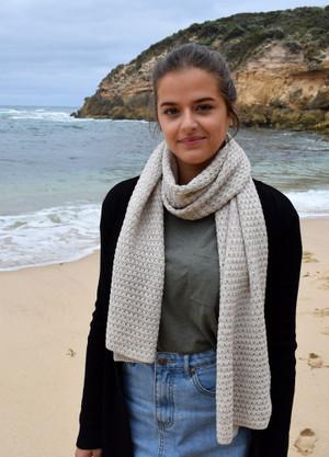 100% merino wool wrap in linen colour