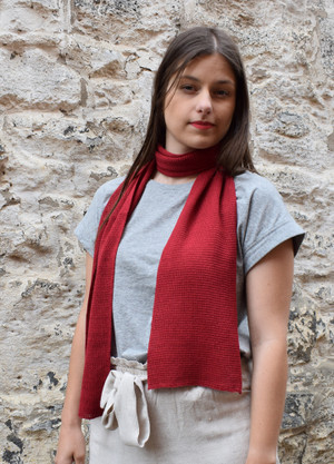 garnet cotton narrow scarf