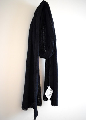 Black cotton scarf