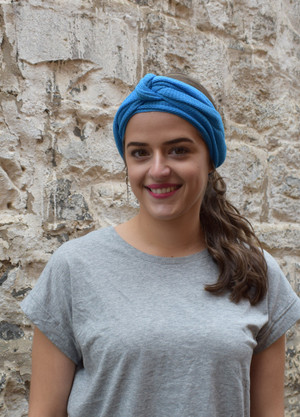 blue, worn as headscarf