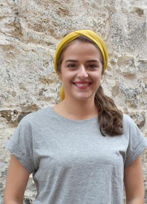 mango, worn as head scarf