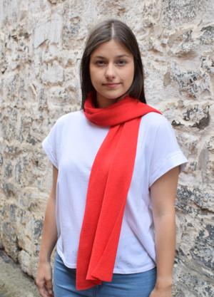 candy red cotton scarf