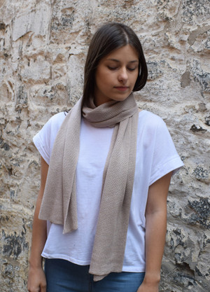 Oatmeal cotton scarf