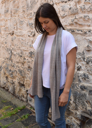 slate stripe cotton scarf