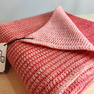 Pink & Coral Merino Baby Blanket