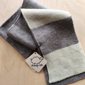 Children's Scarf - Grey/Green