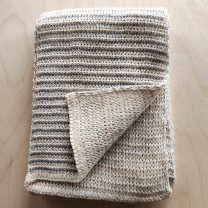 Children's Scarf - Cream/Grey/Gold