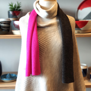 Hot Pink Block Colour Scarf