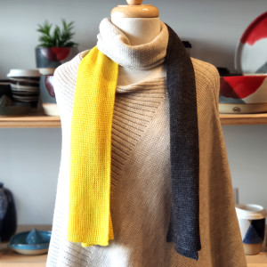 Yellow Block Colour Scarf