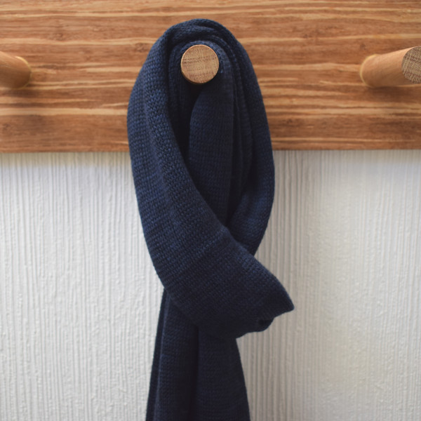 Navy Lightweight Merino Wool Scarf