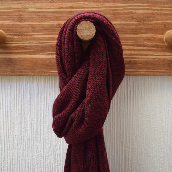 Wine Lightweight Merino Wool Scarf