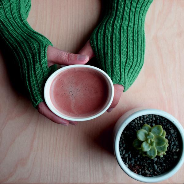 Wool wrist warmers - green