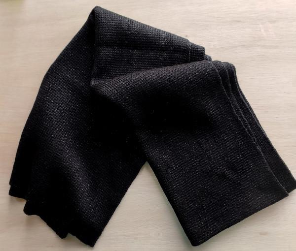 black with black lurex