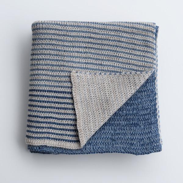 Merino Baby Blanket - Blue