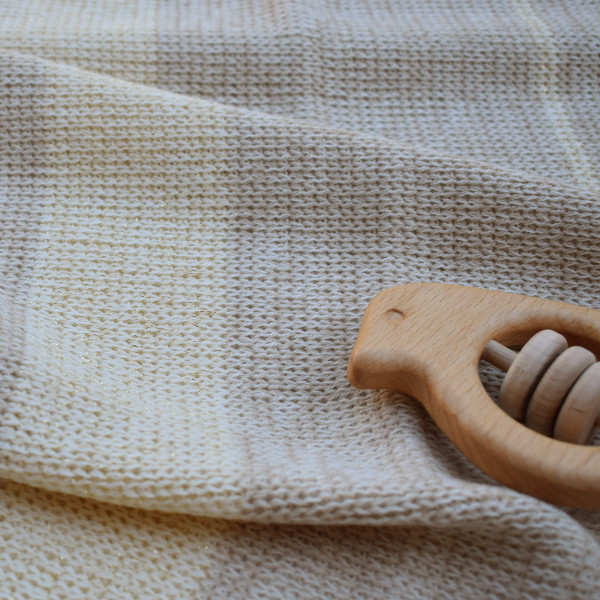 Cream merino wool baby blanket