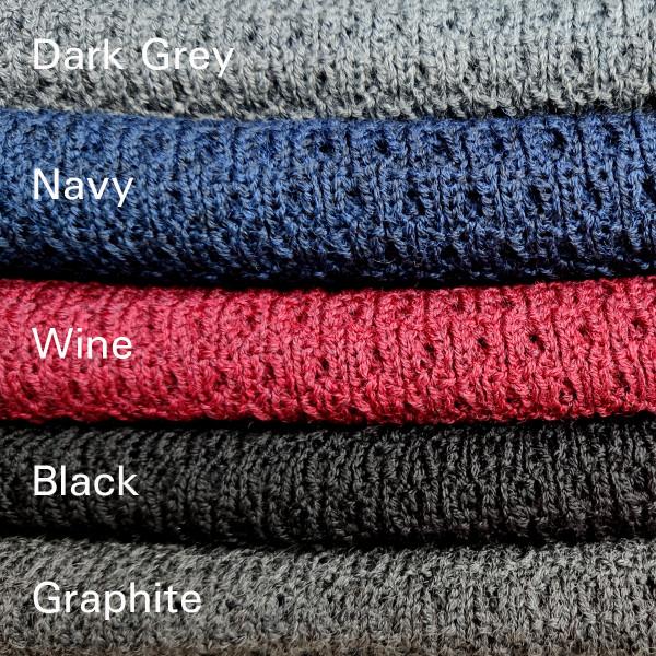 dark grey, navy, wine, black, graphite