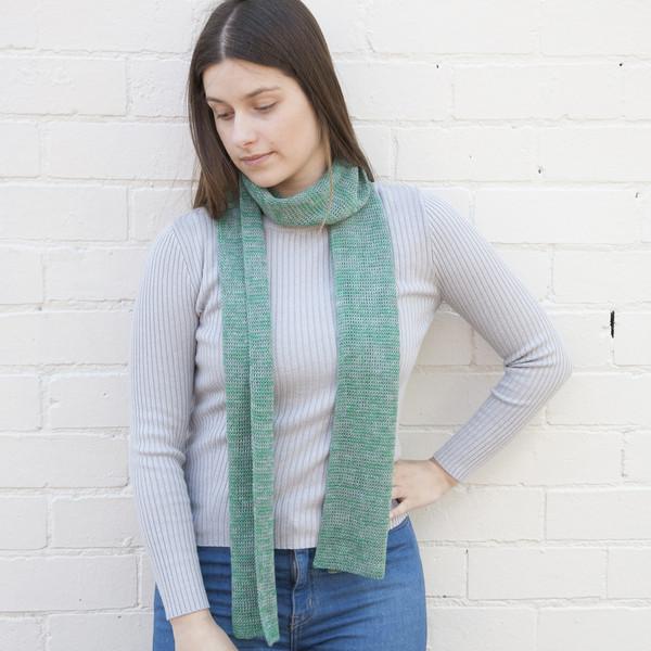 Our soft basic merino scarf - a classic narrow scarf