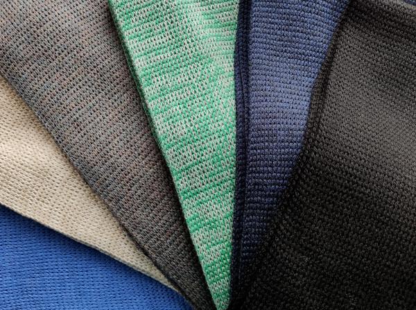 cornflower blue, latte, rainbow grey, grey green, navy, black