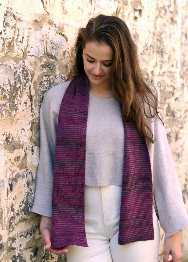 Scarf - Merino Wool - Striped Unisex