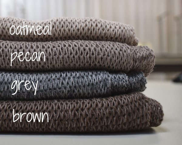 oatmeal, pecan, grey, brown