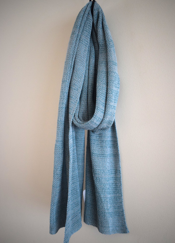 Duck egg blue cotton scarf