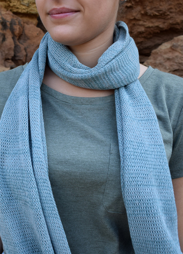Duck Egg Cotton Scarf