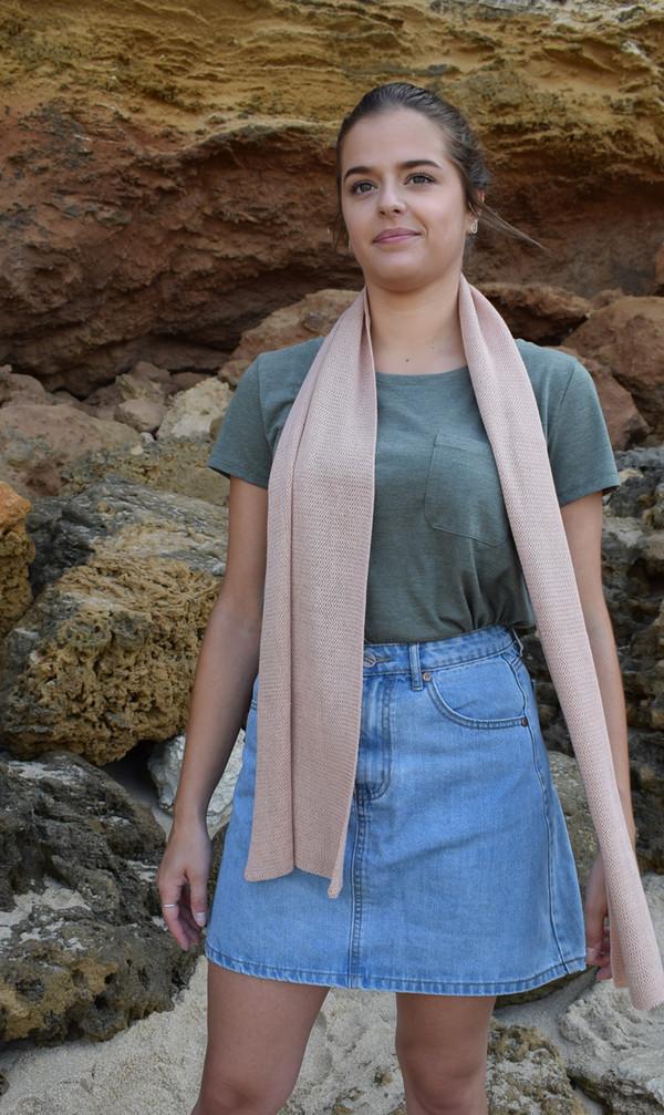 Blush cotton scarf