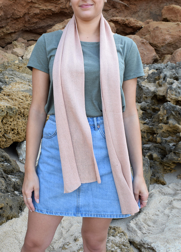 Blush cotton scarf