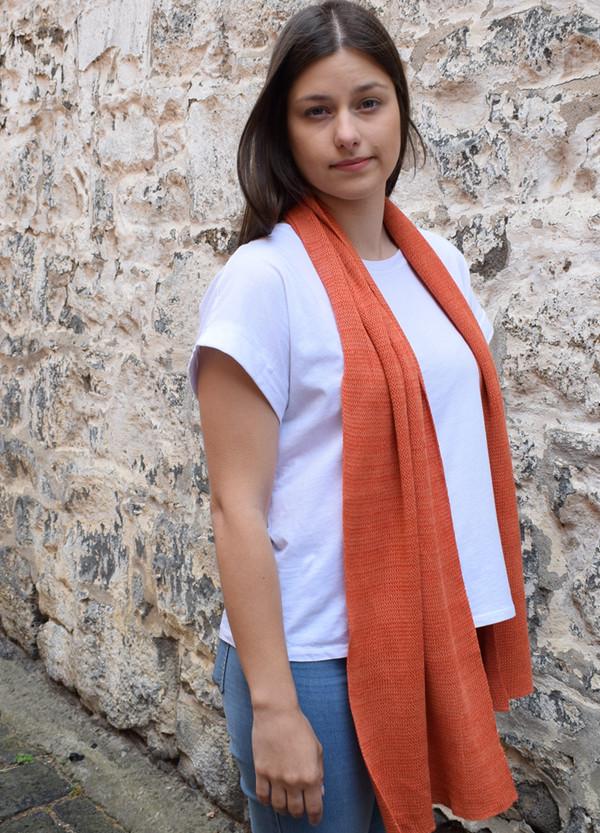 Orange cotton scarf