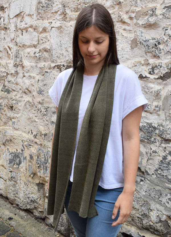 Scarf - Cotton - Khaki
