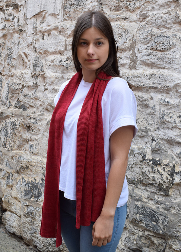Scarf - Cotton - Garnet