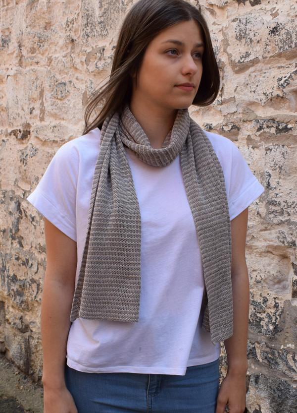 slate stripe cotton scarf