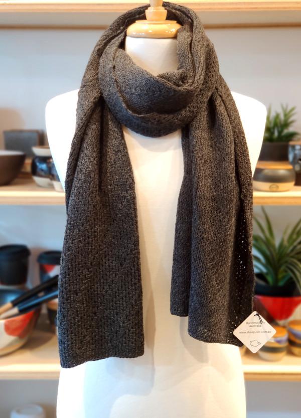 Merino wrap/scarf - ash brown