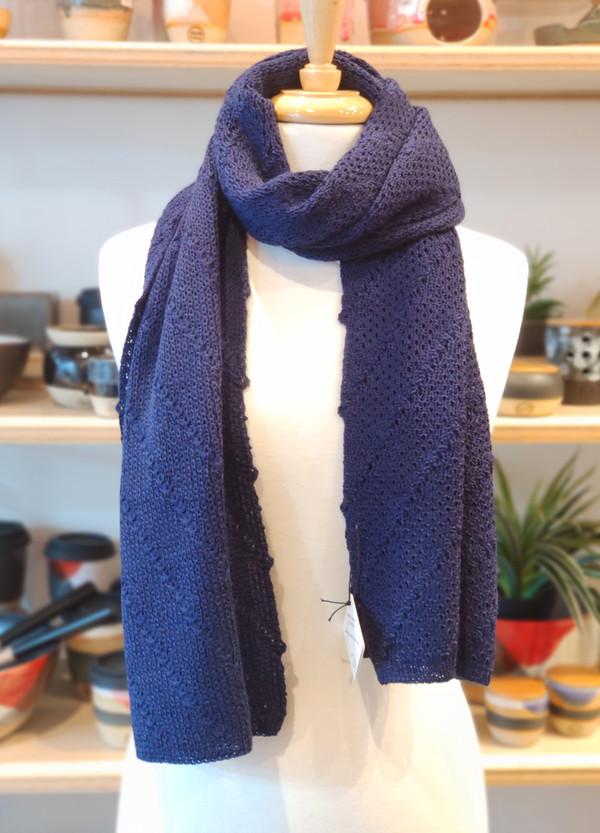 Merino wrap/scarf - marine