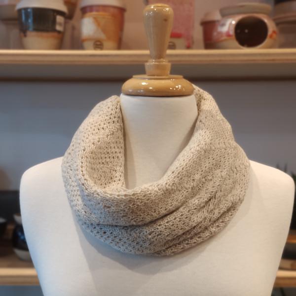 merino wool cowl - linen