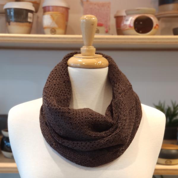 merino wool cowl - ash brown