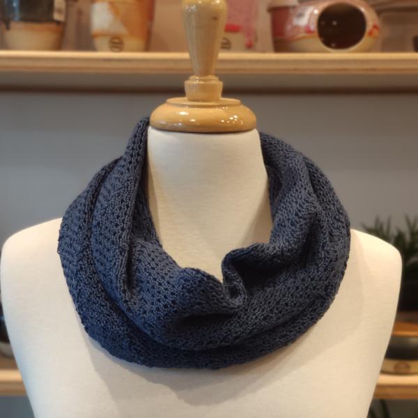 merino wool cowl - ash blue