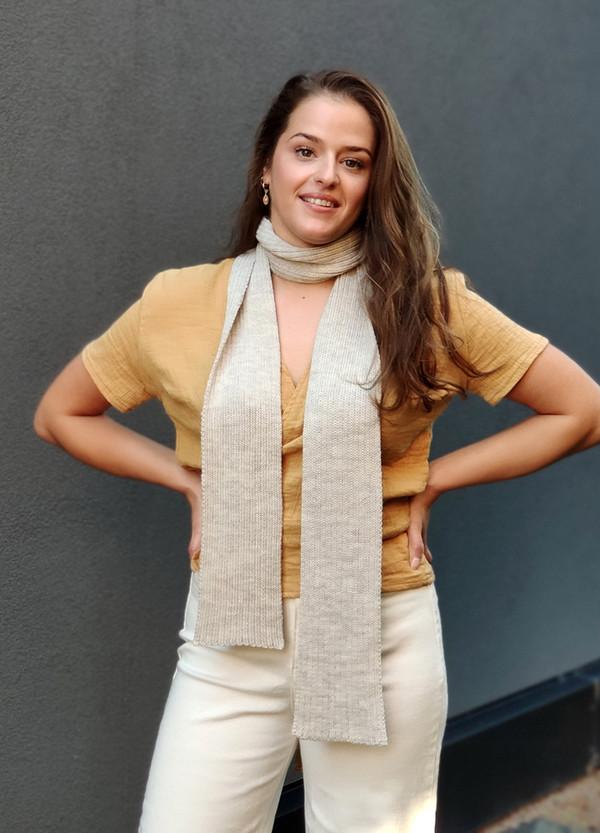 Scarf - Merino Wool - Skinny Ribbed