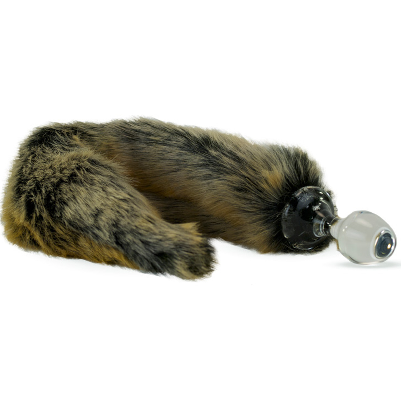 9e11817d196 Crystal Delights Minx Glass Butt Plug Faux Fur Tail Red Wolf ...