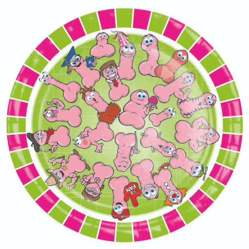 Wild Willy's Collection Party Plates 8 inch Round 10-Pack