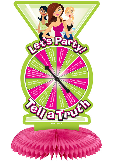 Let's Party Collection Tell a Truth Party Game Centerpiece