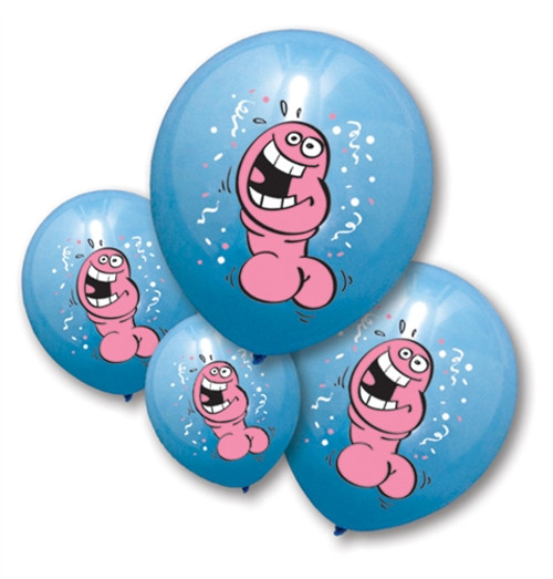 Bachelorette Party Pecker Balloons 6-pack